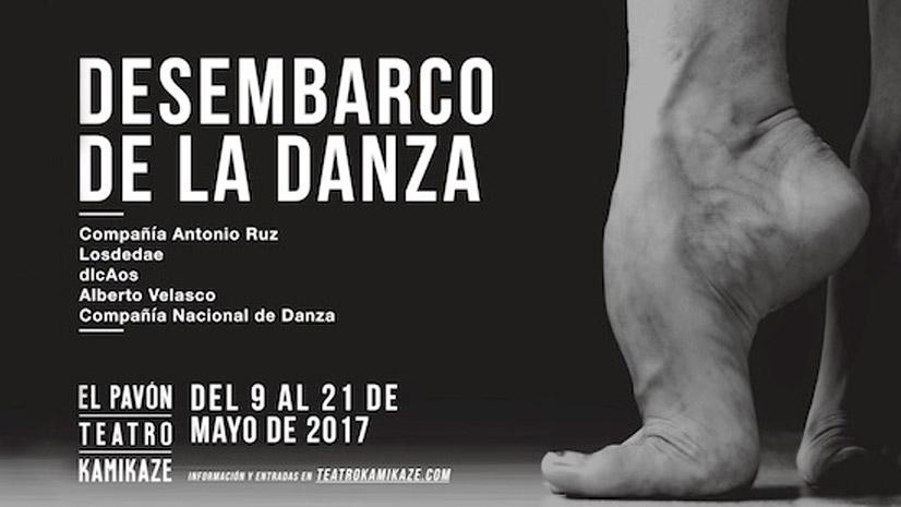 El Desembarco de la Danza llega al Kamikaze con cinco montajes de estreno absoluto