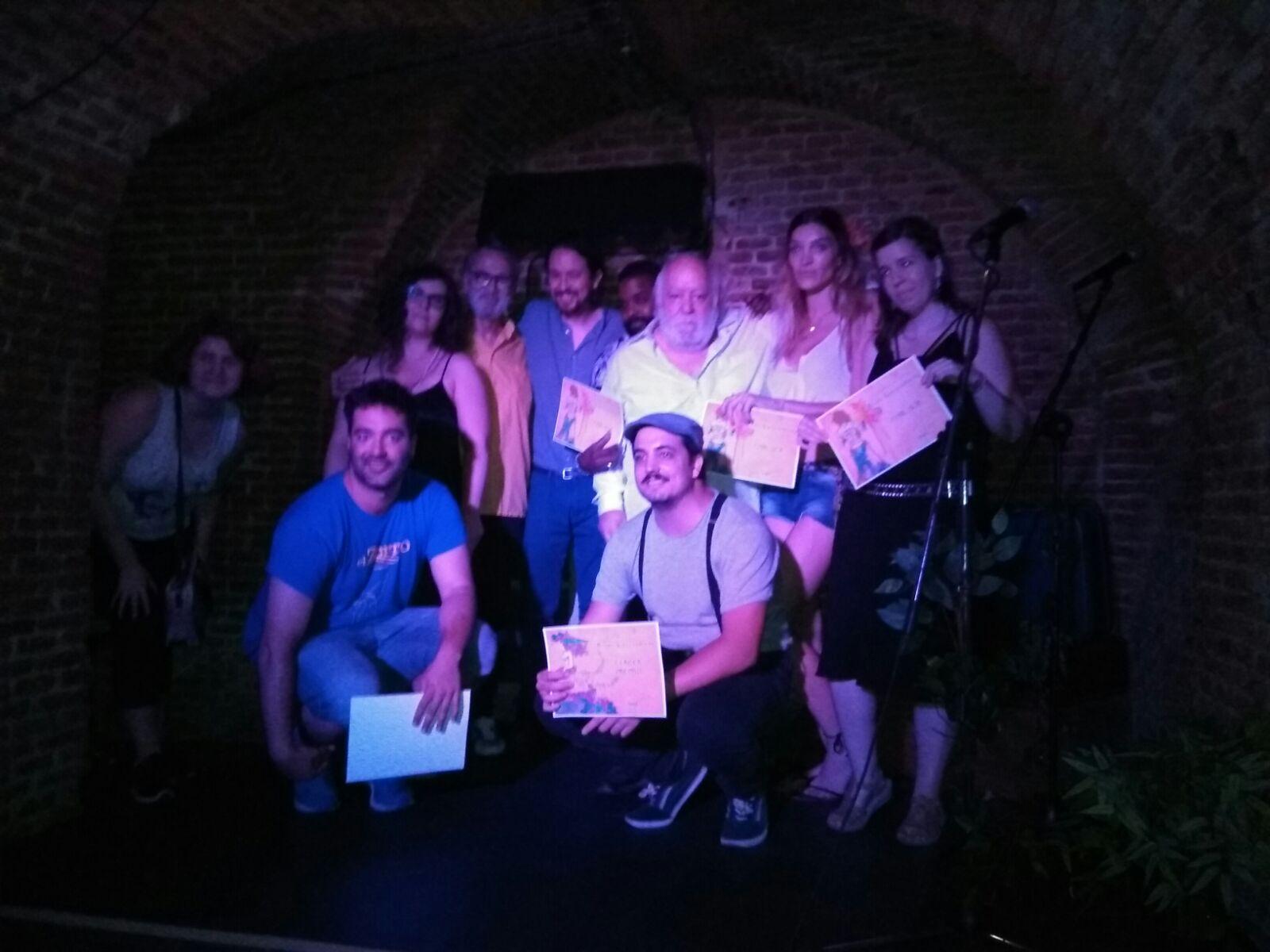 Clausura del Primer Festival de Teatro y Poesía en directo en Teatro de las Aguas