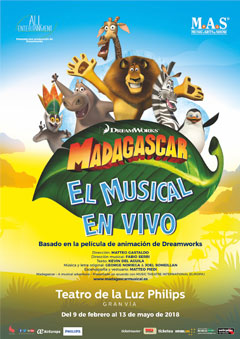 Madagascar – El musical en vivo